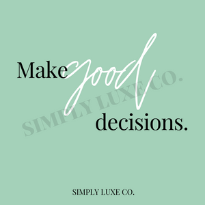 """Make Good Decisions"" Printable Journal Cards (3x3 in.)"