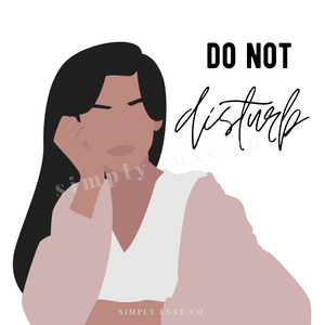 """Do Not disturb"" Printable Journaling Card (3x3 in.)"