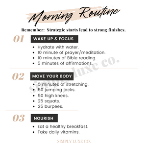 """Morning Routine"" Printable Journaling Card (3x3 in.)"
