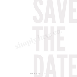 Save the date Printable Journaling Card (3x3 in.)