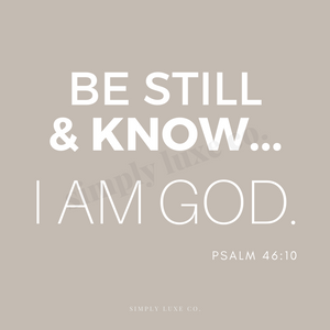 """be still & know"" Psalm 46:10 Printable Journaling Card (3x3 in.) - 2 Colors Available"