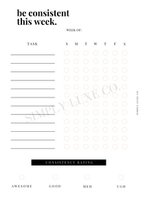 Consistency Tracker Printable Inserts