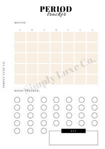 Period Tracker Printable