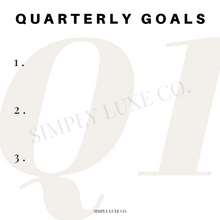 Load image into Gallery viewer, Quarterly Goals Printable Journaling Card Bundle (3x3 in.)