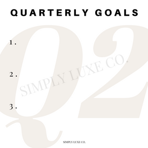 Quarterly Goals Printable Journaling Card Bundle (3x3 in.)