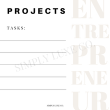 Load image into Gallery viewer, Entrepreneur Project Management Printable Journaling Card Bundle (3x3 in.)