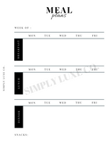 Load image into Gallery viewer, Meal Plans Printable