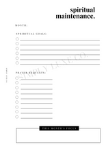 Load image into Gallery viewer, Spiritual Maintenance Printable Insert