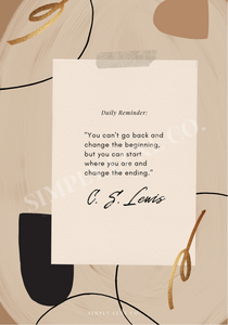 C.S. Lewis Quote Printable Dashboard
