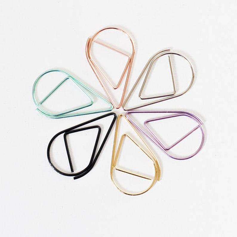 Teardrop Paper Clips (set of 10)