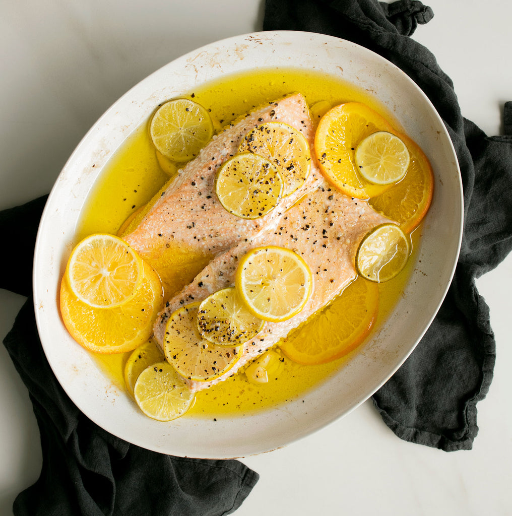 Olive Oil and Citrus Baked Salmon with Fresh Herbs