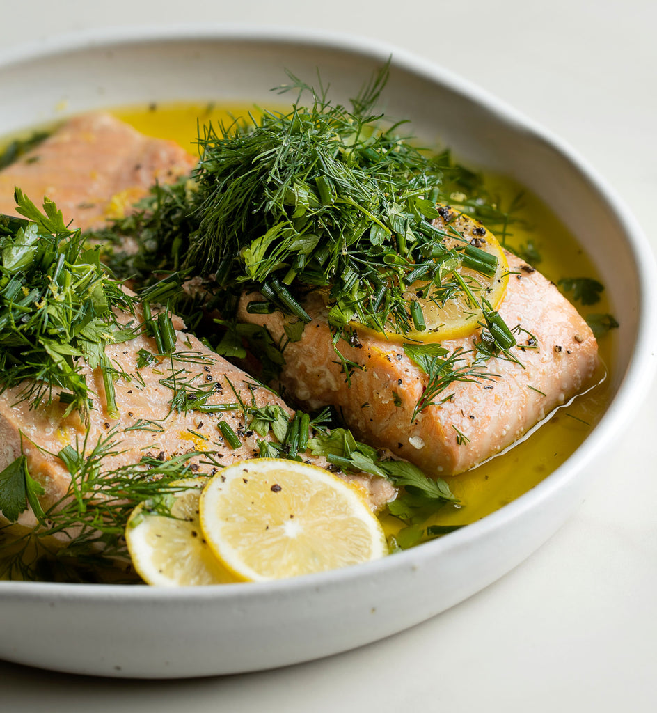 Olive Oil & Citrus Baked Salmon with Fresh Herbs
