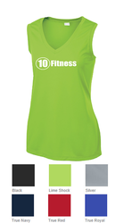 Sport-Tek Ladies Sleeveless V-Neck Tee