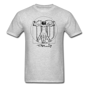 Da Vinci Unisex Short Sleeve Tee - heather gray