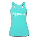 Load image into Gallery viewer, Women's Tri-Blend Racerback Tank - turquoise