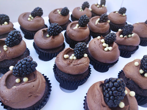 Chocolate Blackberry Cupcakes (Available December)