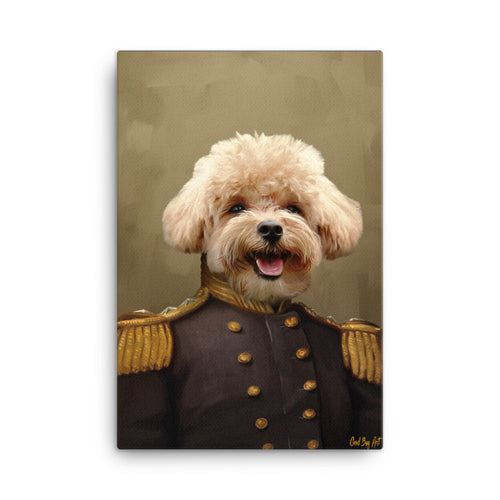 Good Boy Art - The Admiral Custom renaissance pet portrait