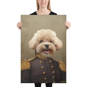 Good Boy Art - The Admiral Personalized renaissance pet painting