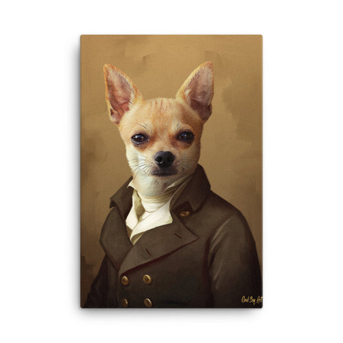 Good Boy Art - The Ambassador Personalized renaissance pet painting