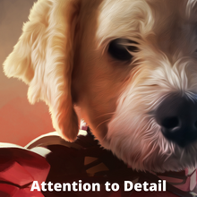 Load image into Gallery viewer, Good Boy Art - Custom Pet Superhero Portrait - Artist Detail