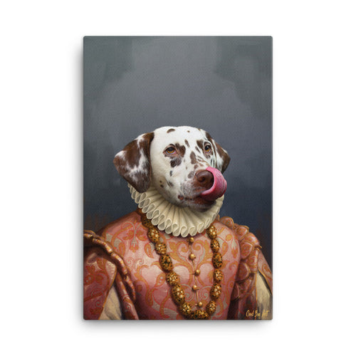 Good Boy Art - The Princess Custom renaissance pet portrait