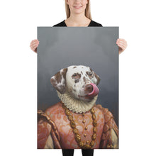 Load image into Gallery viewer, Good Boy Art - The Princess Personalized renaissance pet painting
