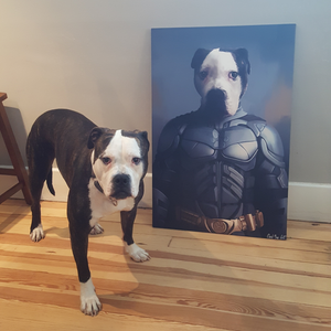 Good Boy Art - Batman Custom Pet Superhero Portrait
