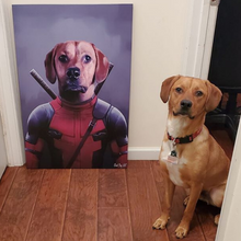 Load image into Gallery viewer, Good Boy Art - Deadpool Custom Pet Superhero Portrait