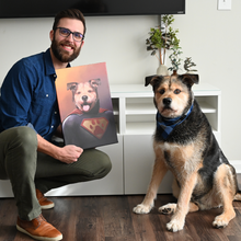 Load image into Gallery viewer, Good Boy Art - Superman Custom Pet Superhero Portrait
