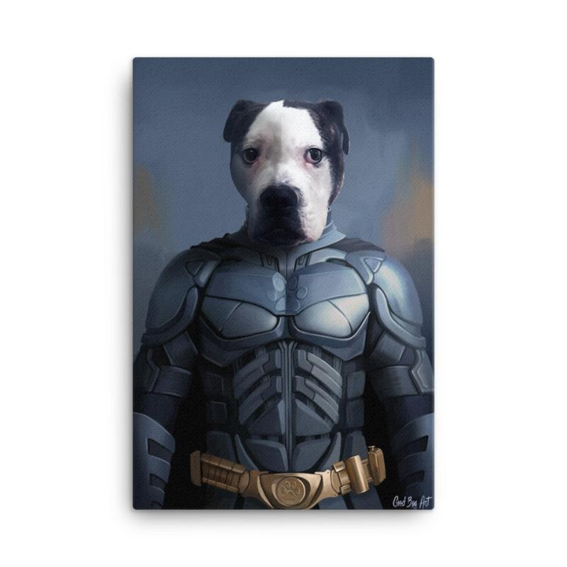 Good Boy Art - Batman Customized Pet Superhero Canvas