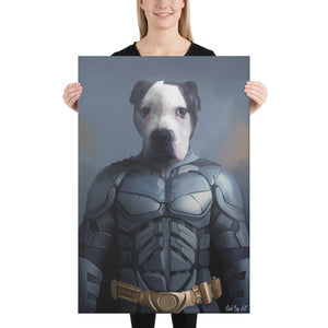 Good Boy Art - Batman Personalized Dog and Cat Superhero Painting