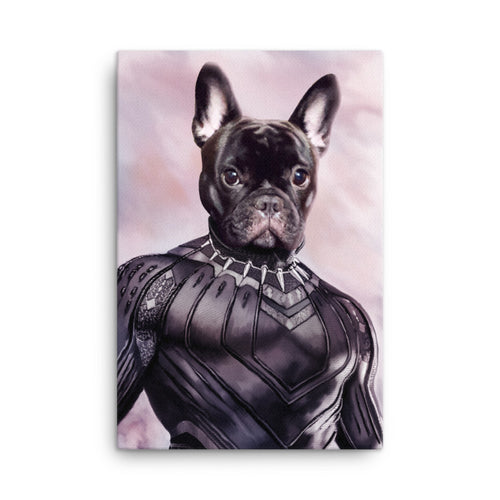 Good Boy Art - Black Panther Custom Pet Superhero Portrait