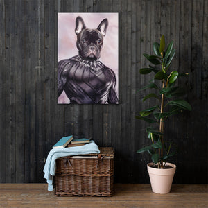 Good Boy Art - Black Panther Customized Pet Superhero Canvas