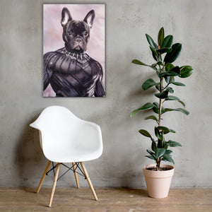 Good Boy Art - Black Panther Personalized Dog and Cat Superhero Painting