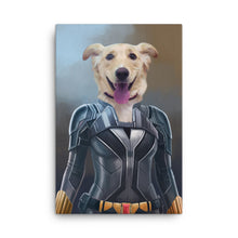 Load image into Gallery viewer, Good Boy Art - Black Widow Custom Pet Superhero Portrait