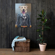 Load image into Gallery viewer, Good Boy Art - Black Widow Customized Pet Superhero Canvas