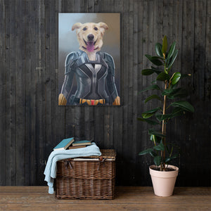 Good Boy Art - Black Widow Customized Pet Superhero Canvas