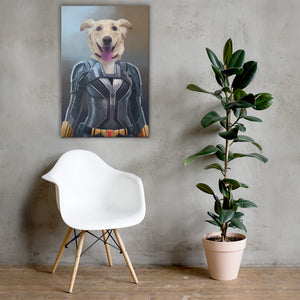 Good Boy Art - Black Widow Personalized Dog and Cat Superhero Painting