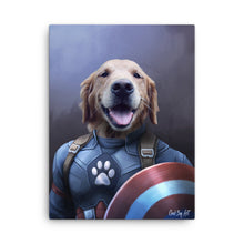 Load image into Gallery viewer, Good Boy Art - Captain America Custom Pet Superhero Portrait