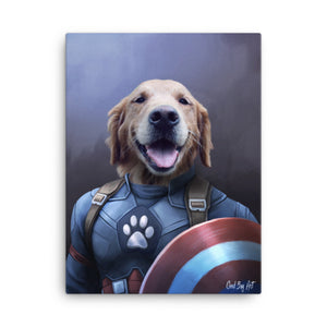 Good Boy Art - Captain America Custom Pet Superhero Portrait