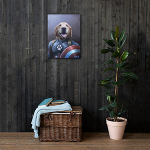 Good Boy Art - Captain America Customized Pet Superhero Canvas