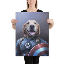 Load image into Gallery viewer, Good Boy Art - Captain America Custom Dog and Cat Superhero Portrait