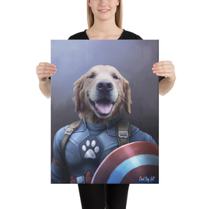 Good Boy Art - Captain America Custom Dog and Cat Superhero Portrait