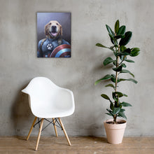 Load image into Gallery viewer, Good Boy Art - Captain America Personalized Dog and Cat Superhero Painting