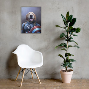 Good Boy Art - Captain America Personalized Dog and Cat Superhero Painting