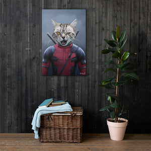 Good Boy Art - Dead Pool Customized Pet Superhero Canvas