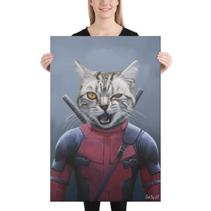 Good Boy Art - Deadpool Custom Dog and Cat Superhero Portrait