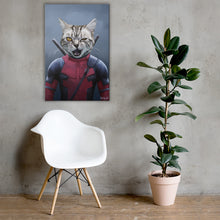 Load image into Gallery viewer, Good Boy Art - Dead Pool Personalized Dog and Cat Superhero Painting