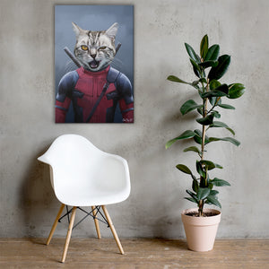 Good Boy Art - Dead Pool Personalized Dog and Cat Superhero Painting