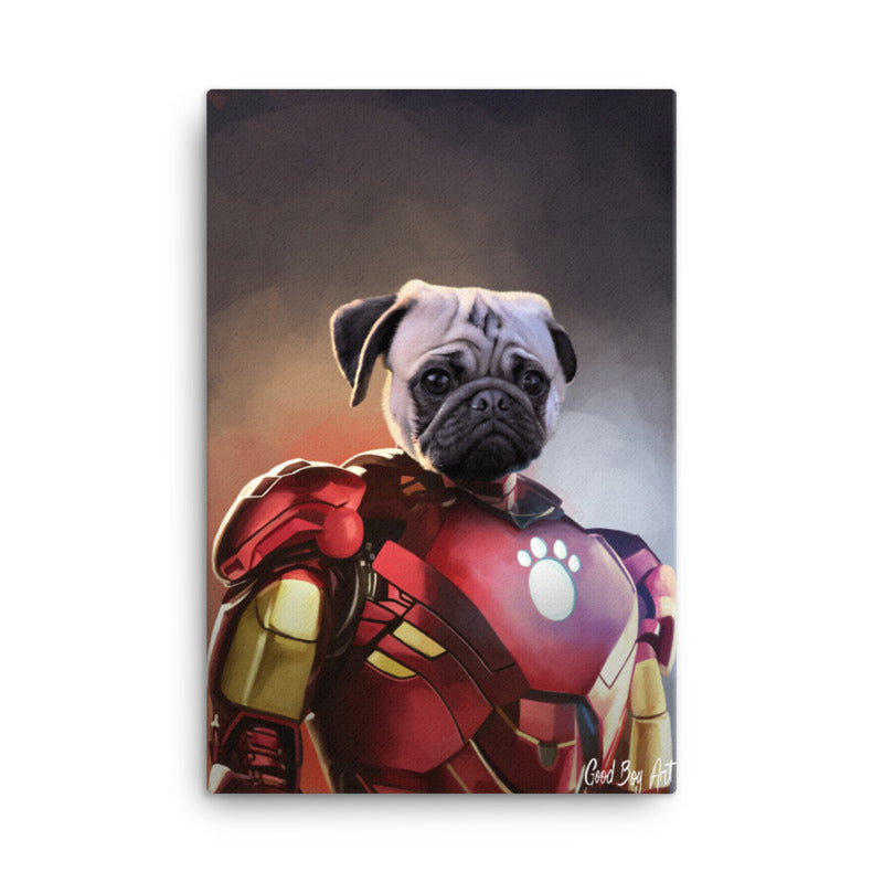 Good Boy Art - Iron Man Custom Pet Superhero Portrait